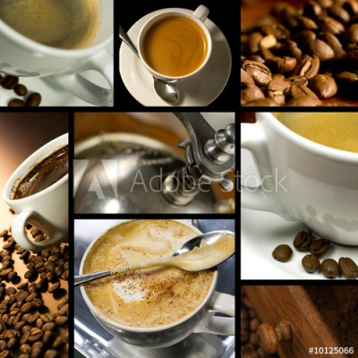 Fototapeta Kolaż o tematyce kawowej (10125066)