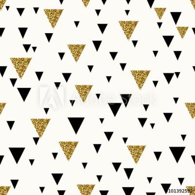 Fototapeta Złote i czarne trójkąty na białym tle (101392592)
