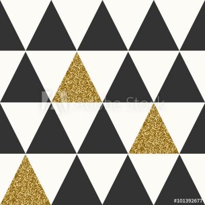 Fototapeta Białe, czarne i złote trójkąty ułożone w rzędzie (101392677)