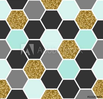 Fototapeta Sześciokątne geometryczne wzory (111253032)