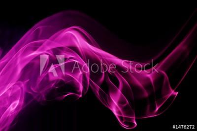 Fototapeta Różowa fala dymu na czarnym tle (1476272)