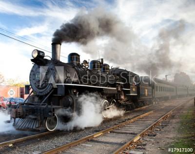 Fototapeta Pociąg parowy (17917100)