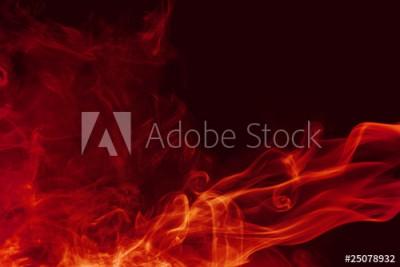 Fototapeta Piękny czerwony dym na czarnym tle (25078932)