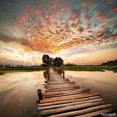 Fototapeta Zachód słońca nad rzeką (30319100)