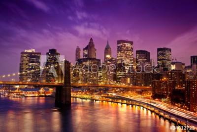 Fototapeta Nowy Jork nocą (34612723)
