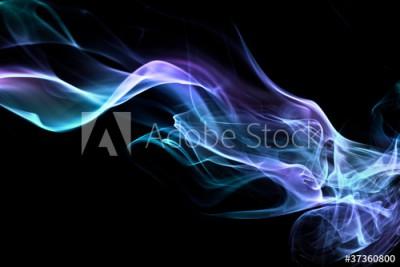 Fototapeta Niebieski dym na czarnym tle (37360800)