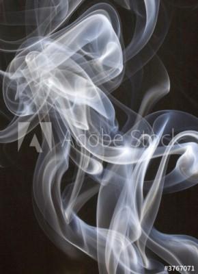 Fototapeta Biały dym na czarnym tle (3767071)