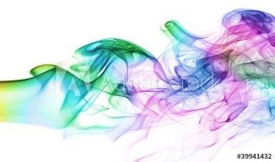 Fototapeta Wielobarwna kolorowa chmura dymu (39941432)