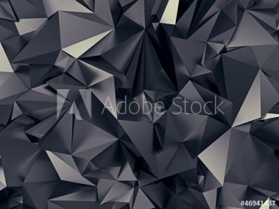 Fototapeta Abstrakcyjne futurystyczne ciemne kształty(46941437)