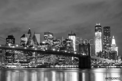 Fototapeta Most Brookliński i drapacze chmur w Nowym Jorku (47820651)