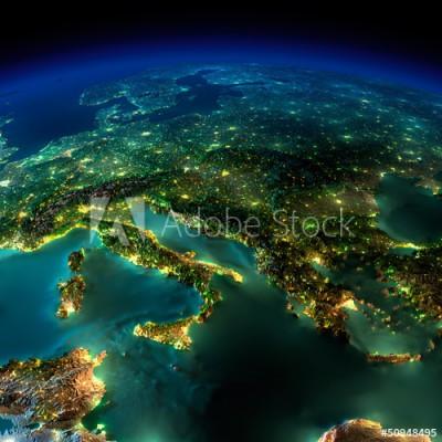 Fototapeta Widok na Europe z kosmosu (50948495)