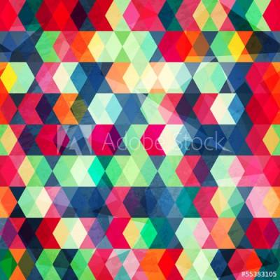 Fototapeta Abstrakcyjny wielokolorowy geometryczny wzór (55383105)