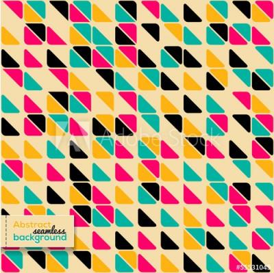 Fototapeta Abstrakcyjny wzór z jaskrawymi trójbokami (55531045)