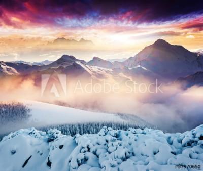 Fototapeta Zima w górach (57970650)