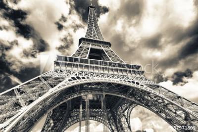 Fototapeta Wieża Eiffla od spodu (57971805)