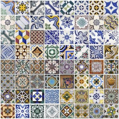 Fototapeta Tradycyjne płytki z Porto, Portugalia (58708333)