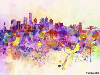Fototapeta Akwarelowa panorama Nowego Jorku (59802668)