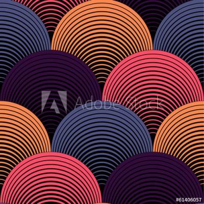 Fototapeta Ozdobny kolorowy geometryczny wzór (61406057)