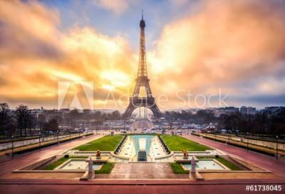 Fototapeta Wieża Eiffla w Paryżu (61738045)