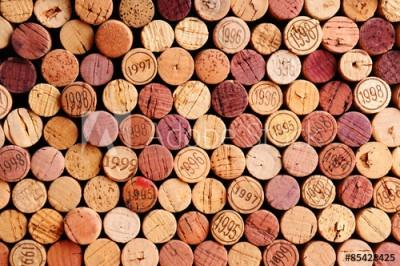 Fototapeta Ściana korków z wina (85428425)