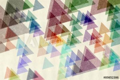 Fototapeta Niewyraźne kolorowe trójkąty (89852386)