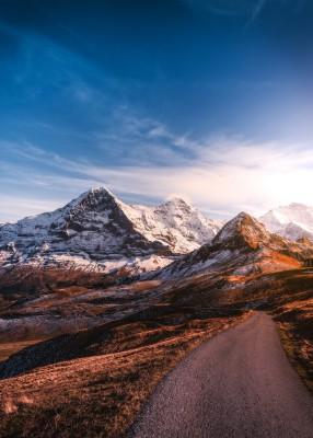 Plakat Szczyty gór w Szwajcarii