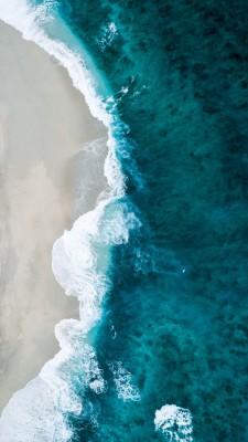 Plakat Plaża z lotu plata