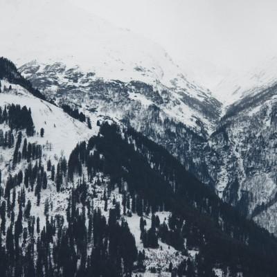 Plakat Zima w górach