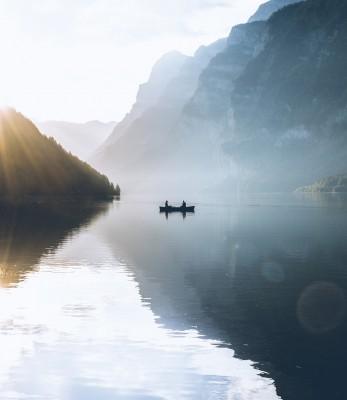 Plakat Jezioro Klöntalersee Szwajcaria