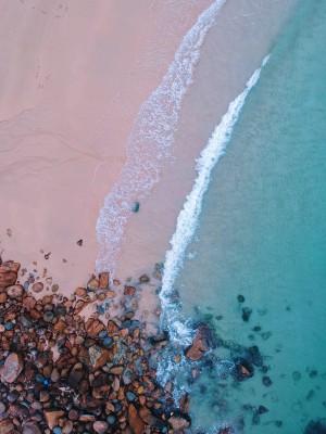 Plakat Kamienie na plaży