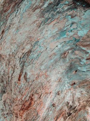 Plakat Turkusowo-czerwona skała